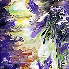 Purple & Green Liquid Painting by markchadwick