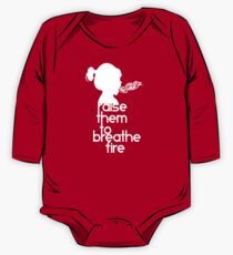 Raise Them To Breathe Fire - SassyPants Edition (WHITE) One Piece - Long Sleeve