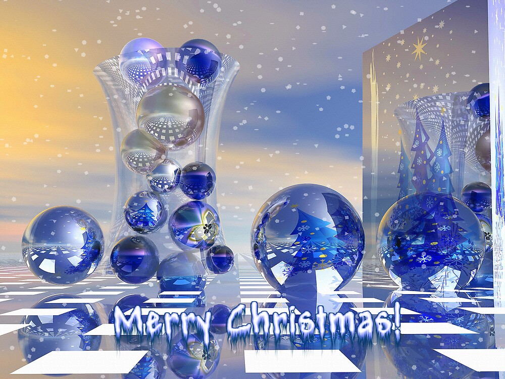 Surreal Merry Christmas card by walstraasart