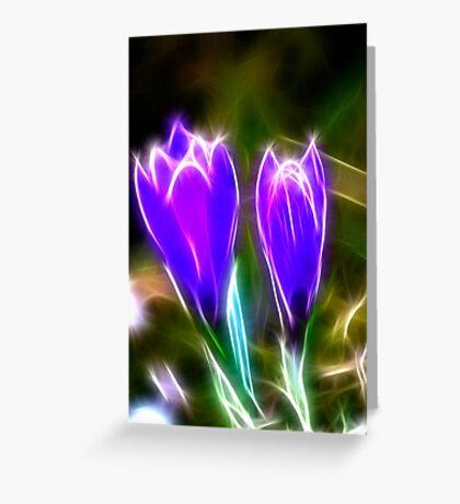 Sparkling Crocus Greeting Card