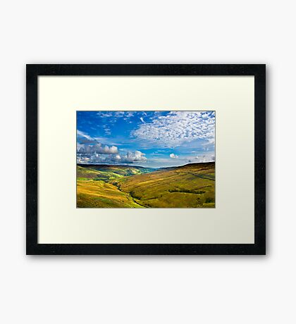 Summer View from The Buttertubs Framed Print
