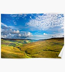 Summer View from The Buttertubs Poster
