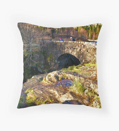 Birks Bridge - River Duddon Throw Pillow