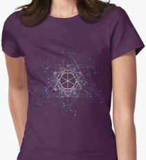 Metatron's Cube Star Cluster - Sacred Geometry Womens Fitted T-Shirt