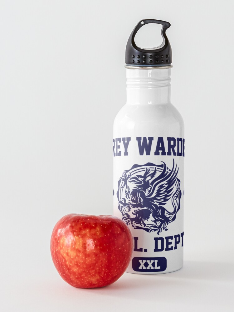 Alternate view of Grey Warden Athletic Department | Dragon Age Gym Shirt Style | Navy Print Water Bottle