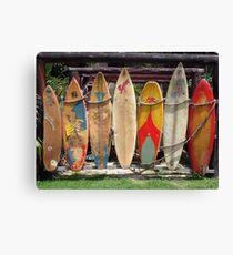 Surfboard Fence Canvas Print