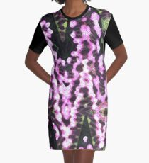 Floral Explosion Graphic T-Shirt Dress