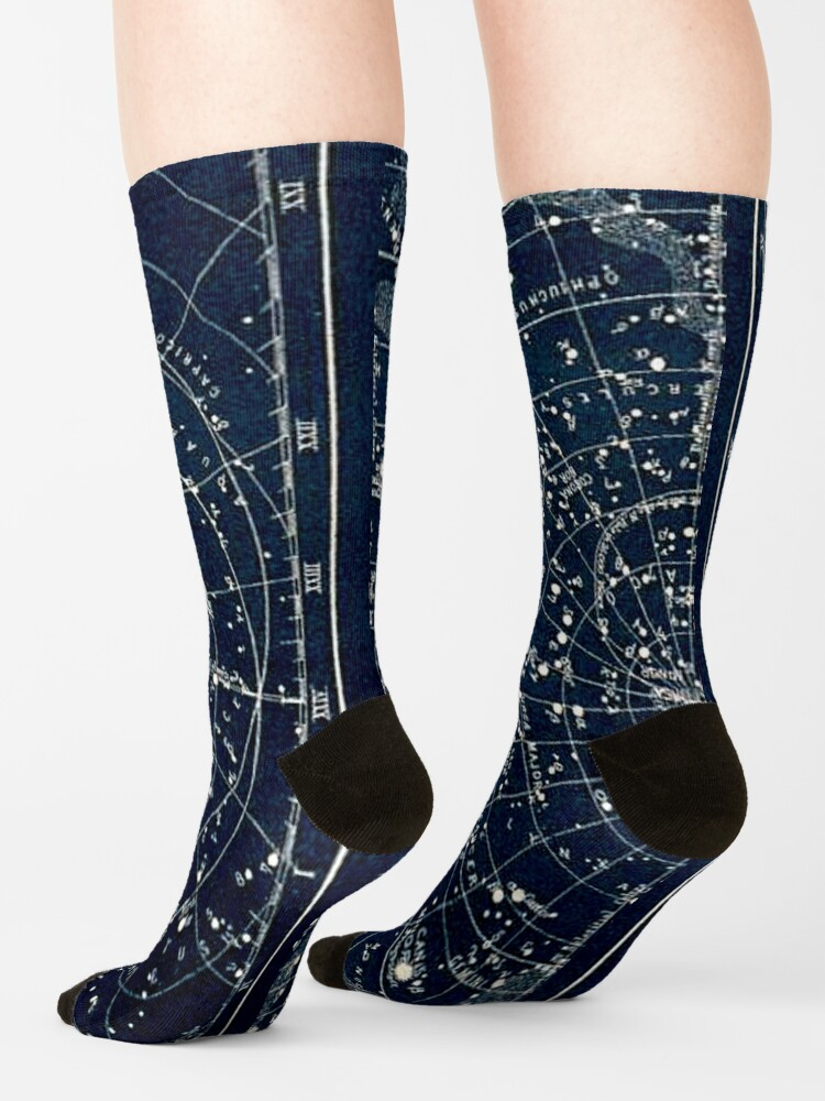 Alternate view of THE STAR CONSTELLATIONS : Vintage 1900 Galaxy Print Socks