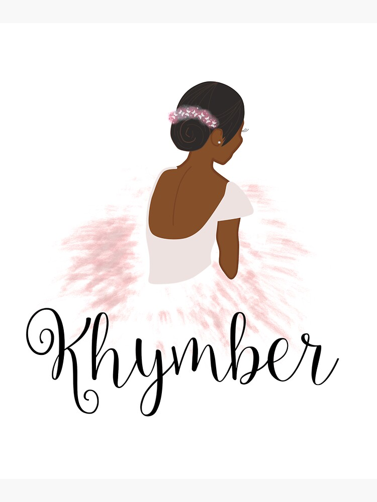 Khymber Personalized African American Dancer Ballerina by umeimages