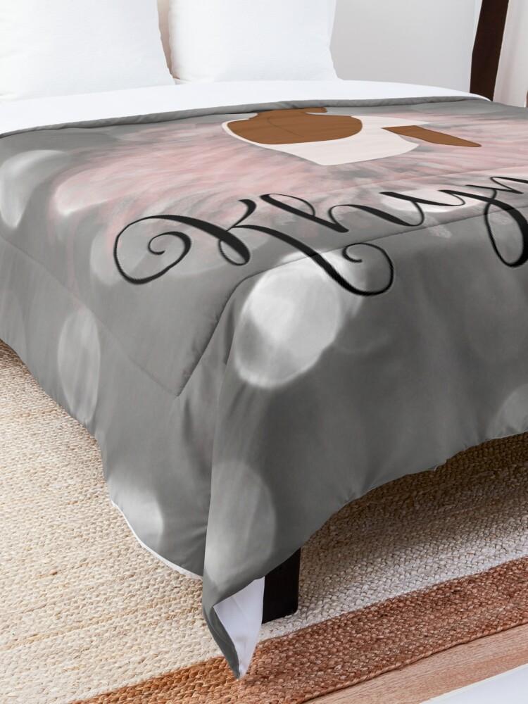 Alternate view of Khymber Personalized African American Dancer Ballerina Comforter