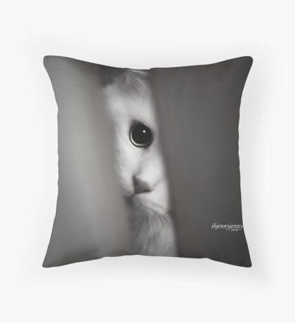 Peepin TomCat Throw Pillow