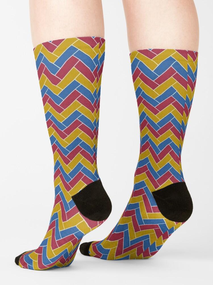 Alternate view of Geometric Pattern: Herringbone: Summer Socks