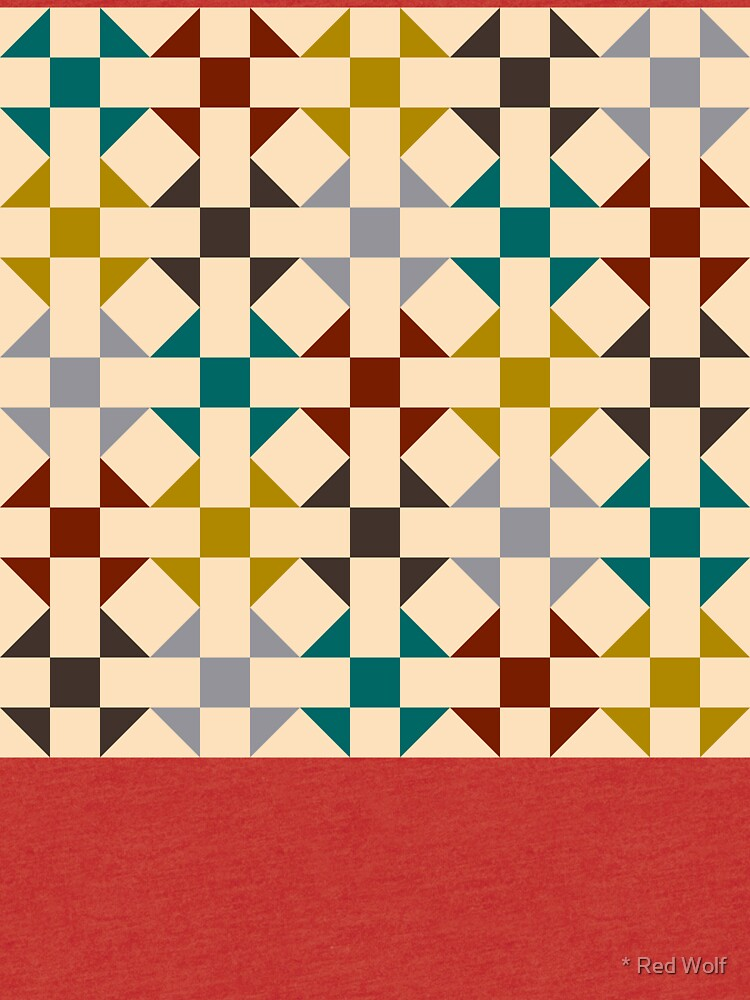 Geometric Pattern: Quilt: Autumn by redwolfoz