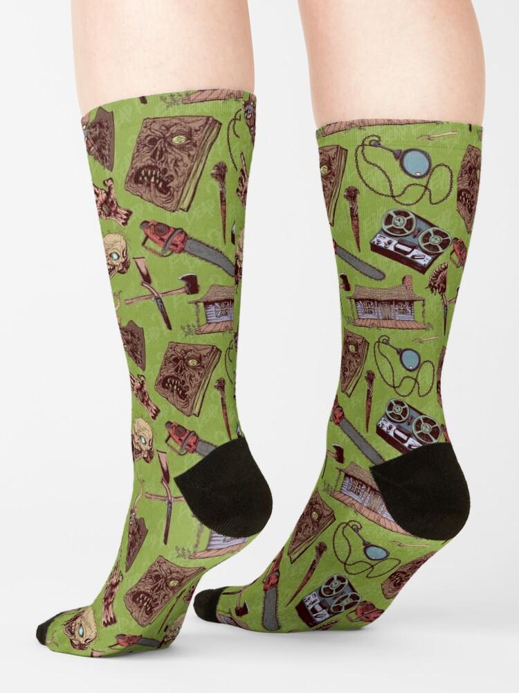 Alternate view of Evil Dead 2 pattern Socks
