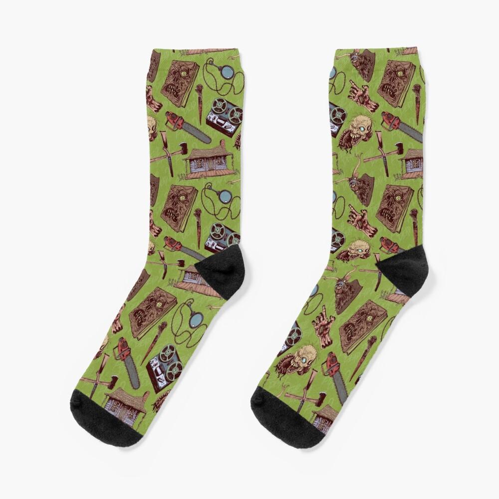 Evil Dead 2 pattern Socks