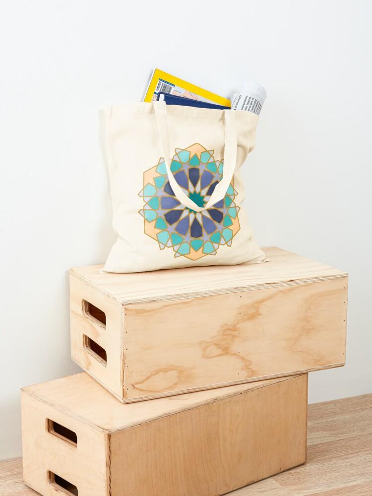 Alternate view of Geometric Pattern: Arabic Tiles: Dream Tote Bag