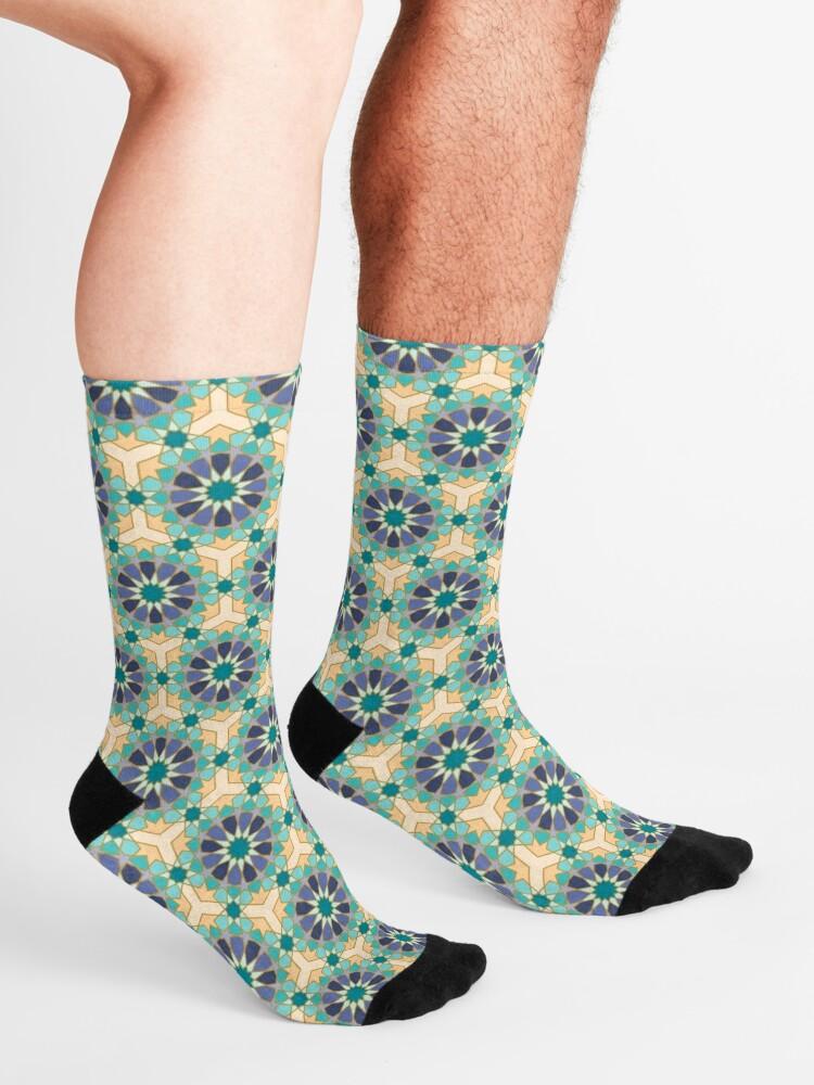 Alternate view of Geometric Pattern: Arabic Tiles: Dream Socks