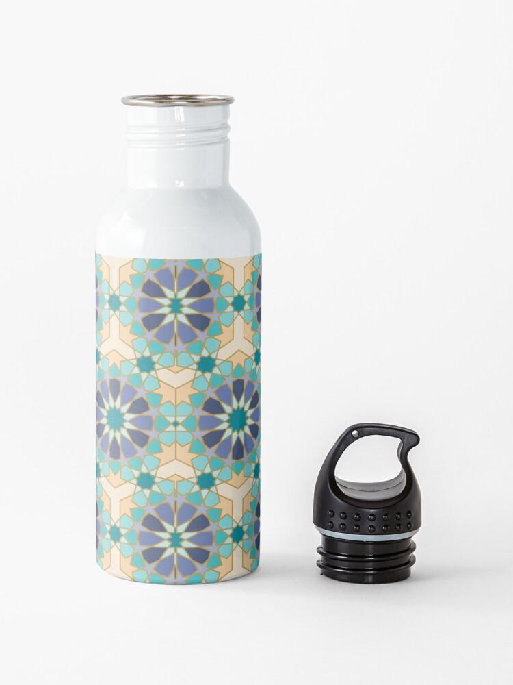 Alternate view of Geometric Pattern: Arabic Tiles: Dream Water Bottle