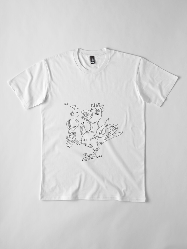 Alternate view of How to draw a singing chicken Premium T-Shirt