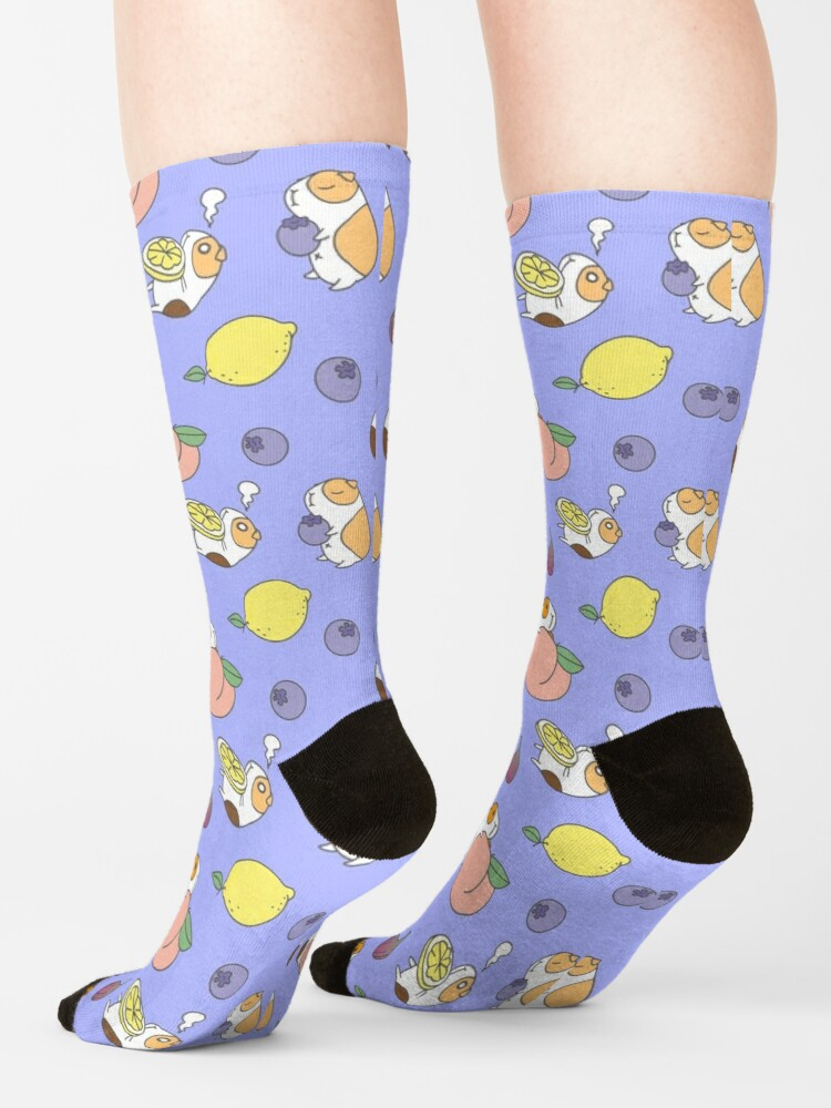 Alternate view of Guinea pig and blueberry  Socks
