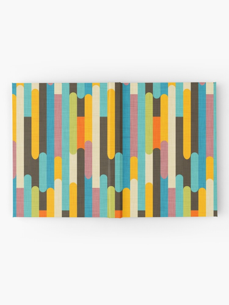 Alternate view of Retro Color Block Popsicle Sticks Blue Hardcover Journal