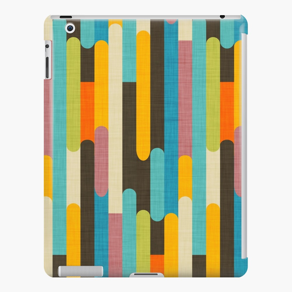 Retro Farbblock-Eis am Stiel haftet Blau iPad-Hülle & Skin