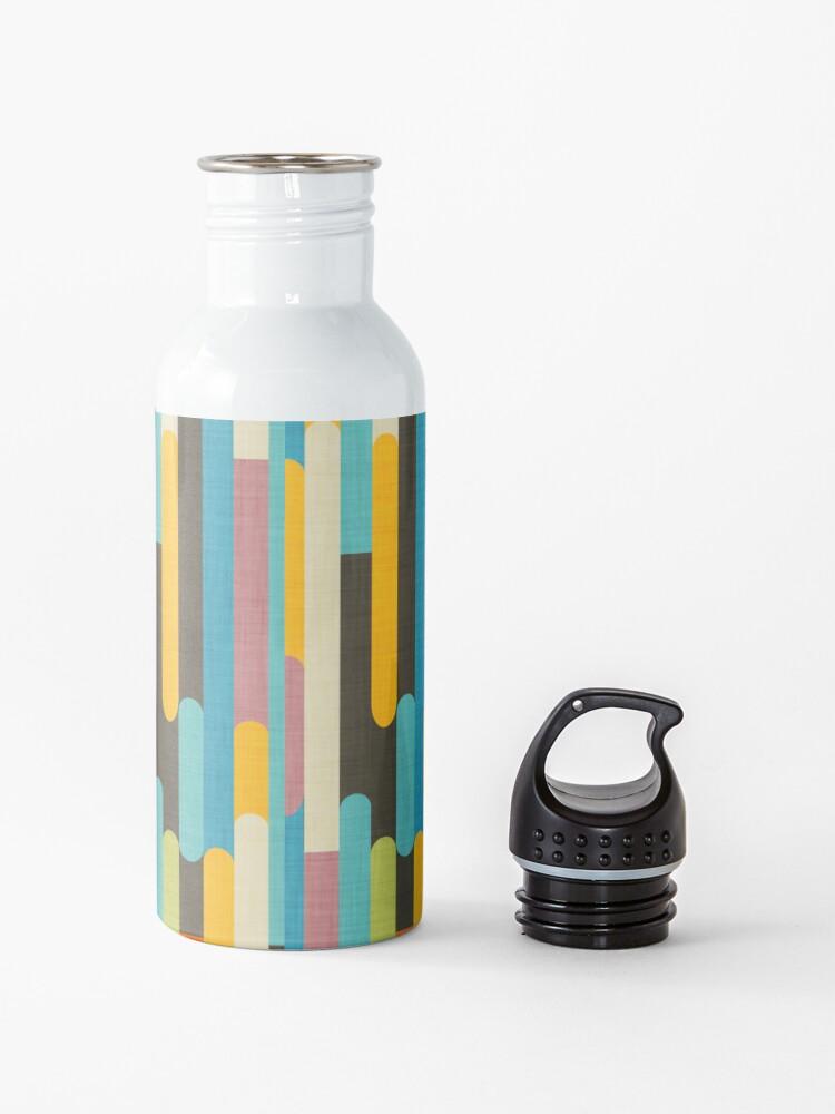 Alternate view of Retro Color Block Popsicle Sticks Blue Water Bottle