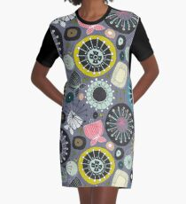 blooms amethyst Graphic T-Shirt Dress