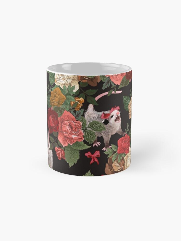 Alternate view of Opossum floral pattern Mug