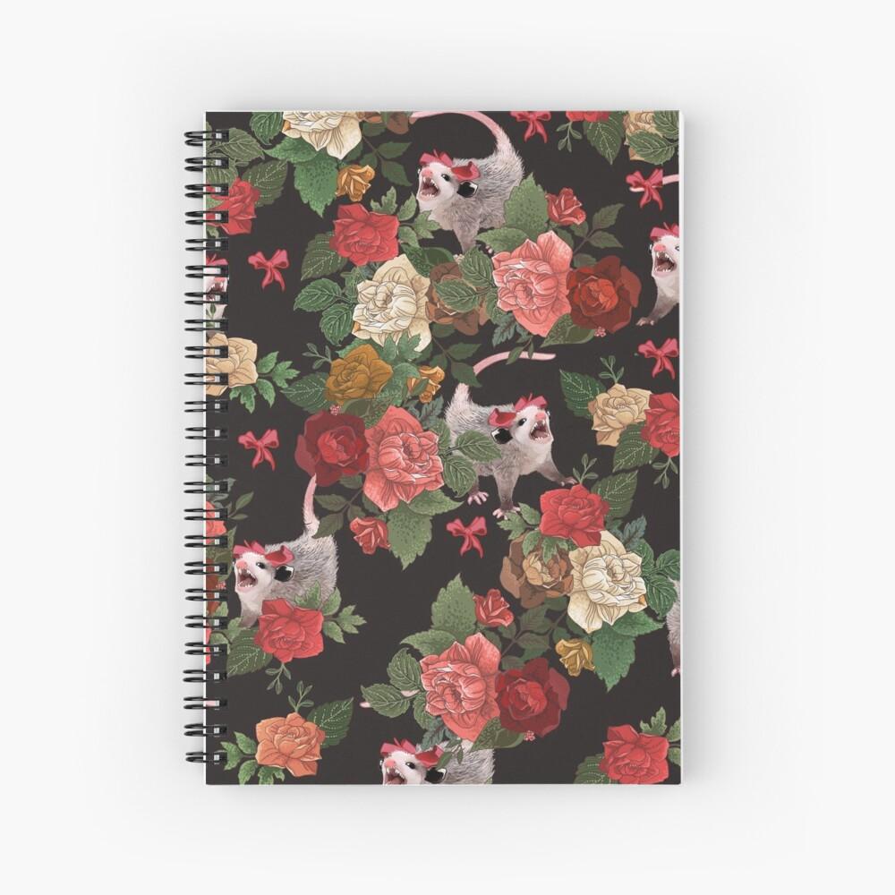 Opossum floral pattern Spiral Notebook