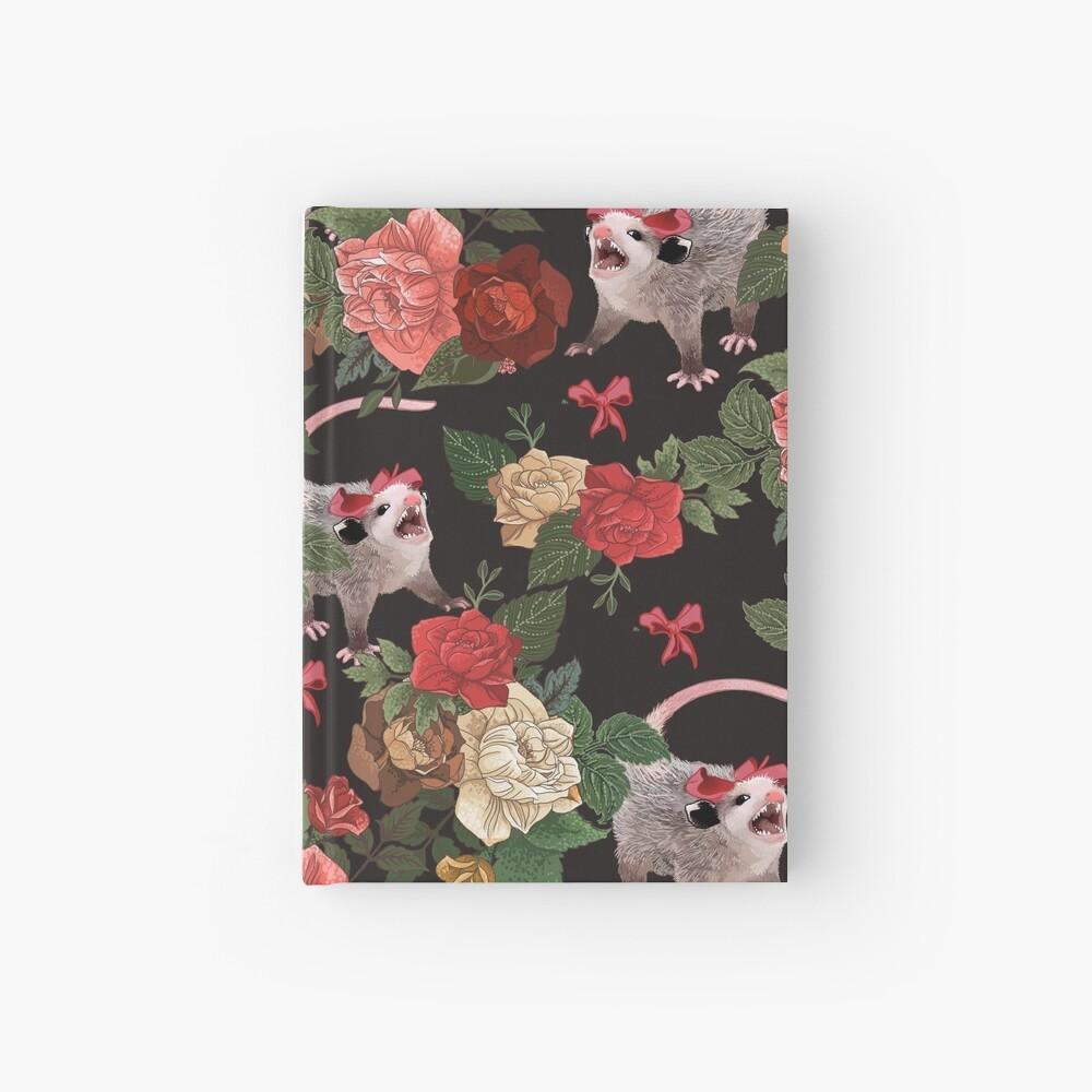 Opossum floral pattern Hardcover Journal