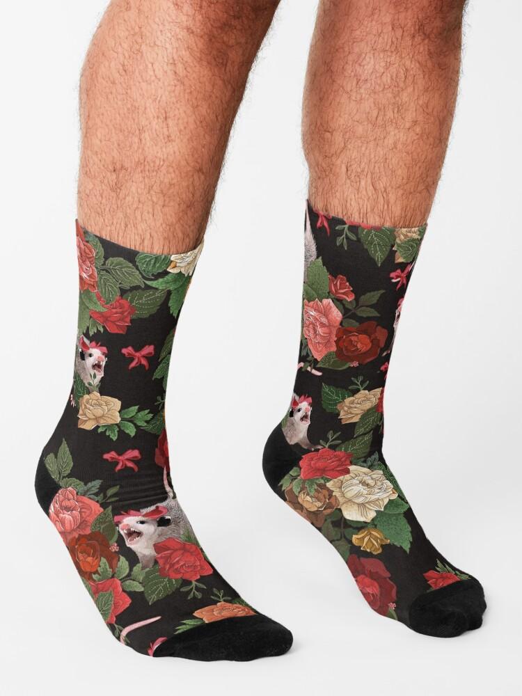 Alternate view of Opossum floral pattern Socks