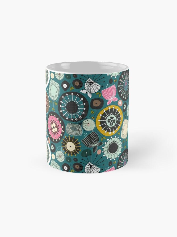 Alternate view of blooms teal Mug