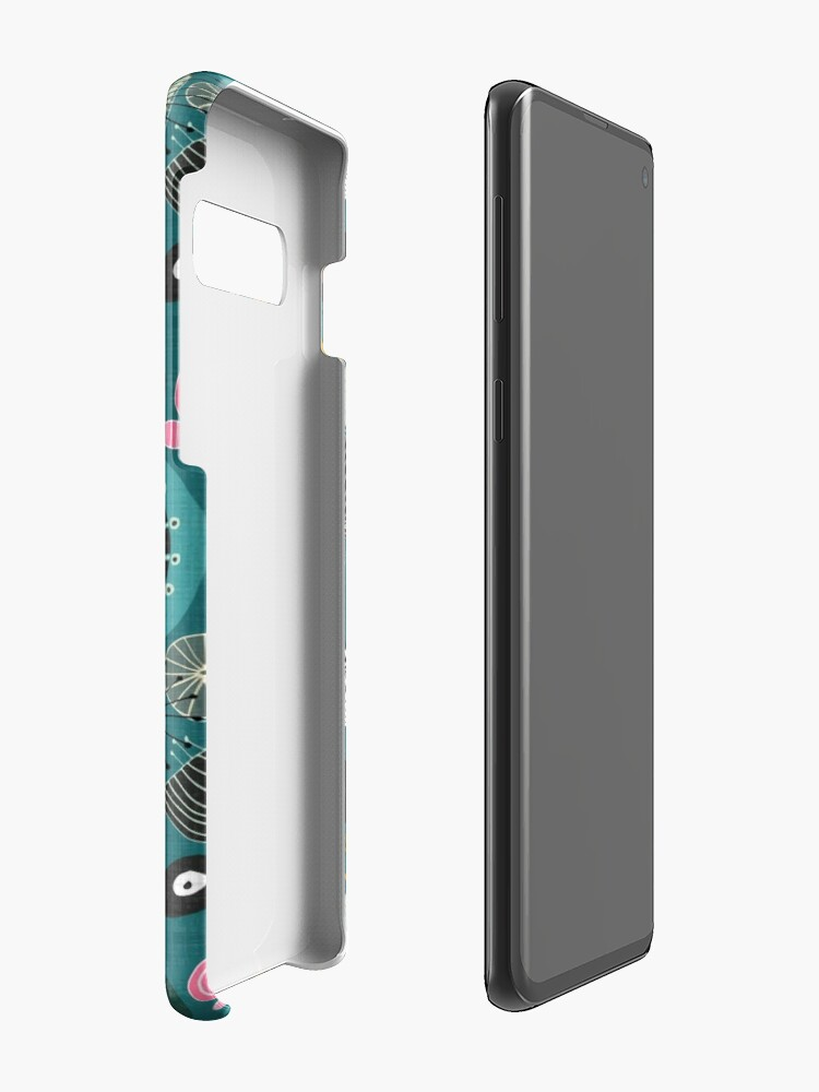Alternate view of blooms teal Case & Skin for Samsung Galaxy