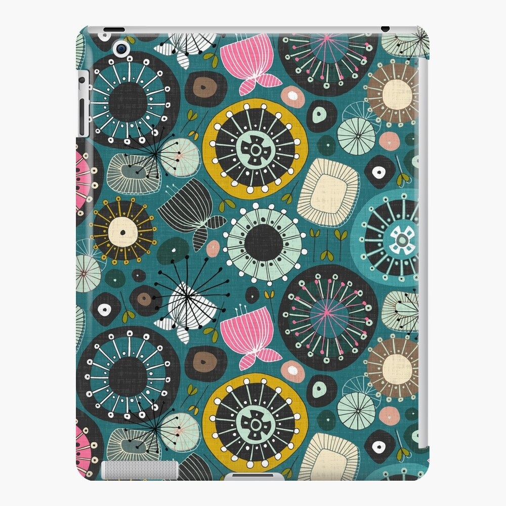 blooms teal iPad Case & Skin
