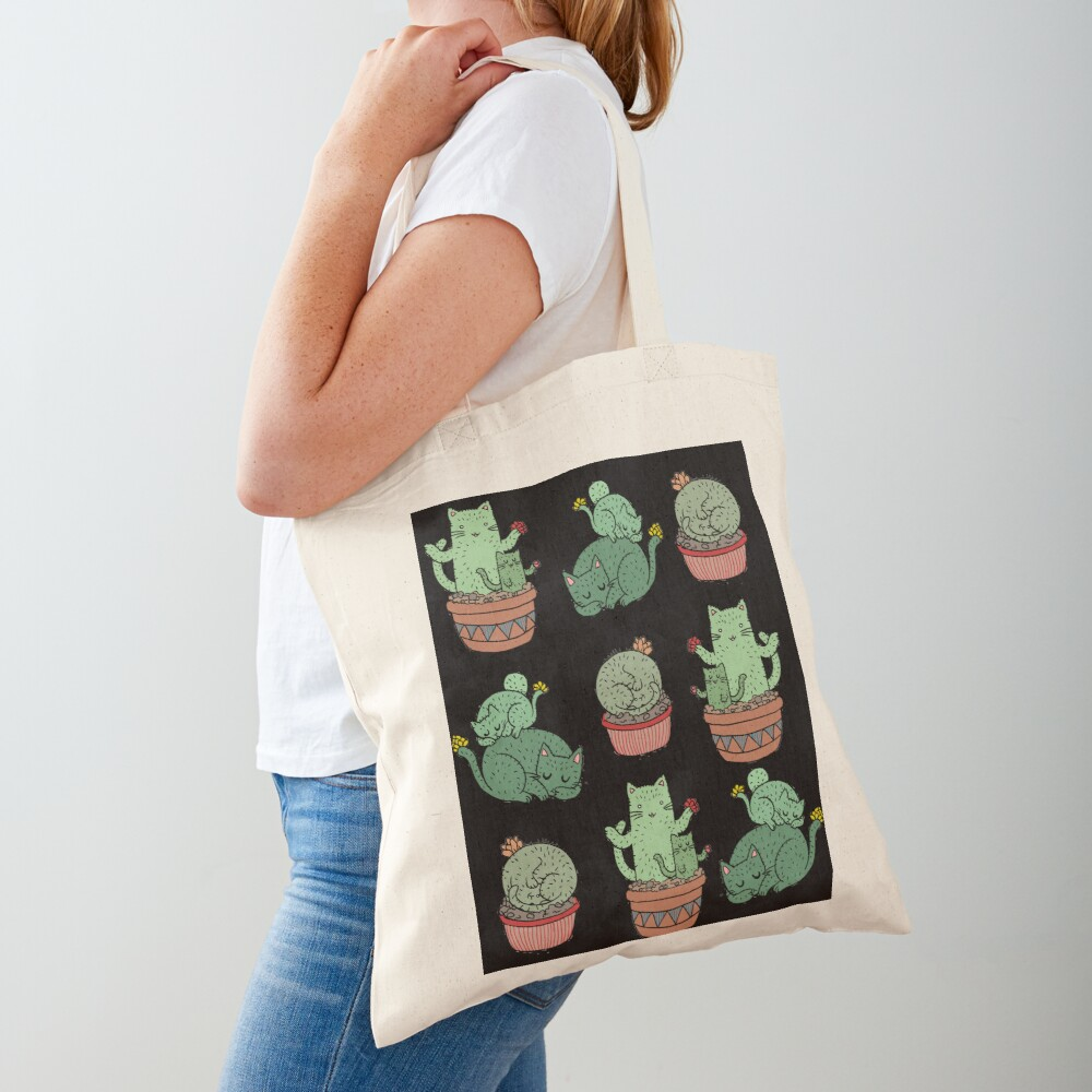 Cactus Cats Tote Bag