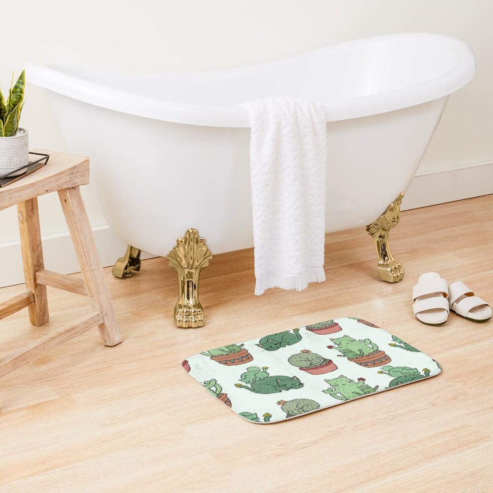 Cactus Cats Bath Mat
