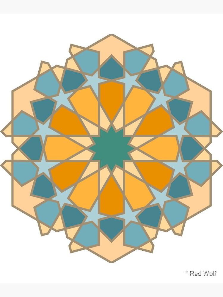 Geometric Pattern: Arabic Tiles: Lily by redwolfoz