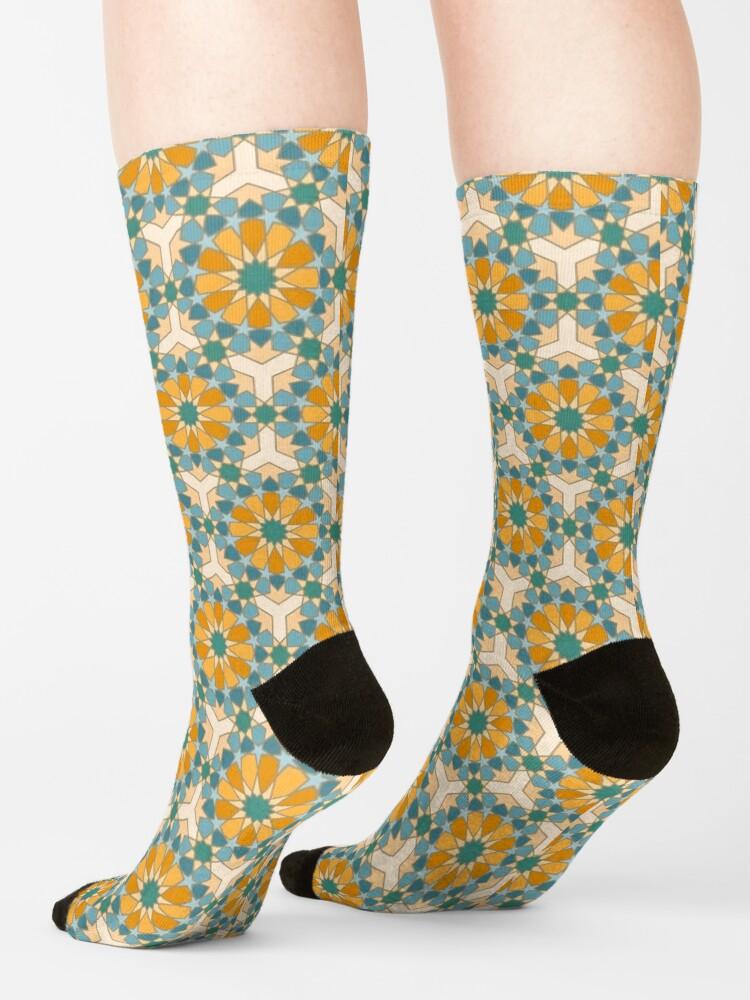 Alternate view of Geometric Pattern: Arabic Tiles: Lily Socks
