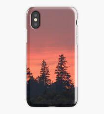 Smoke Trail Sunset iPhone Case