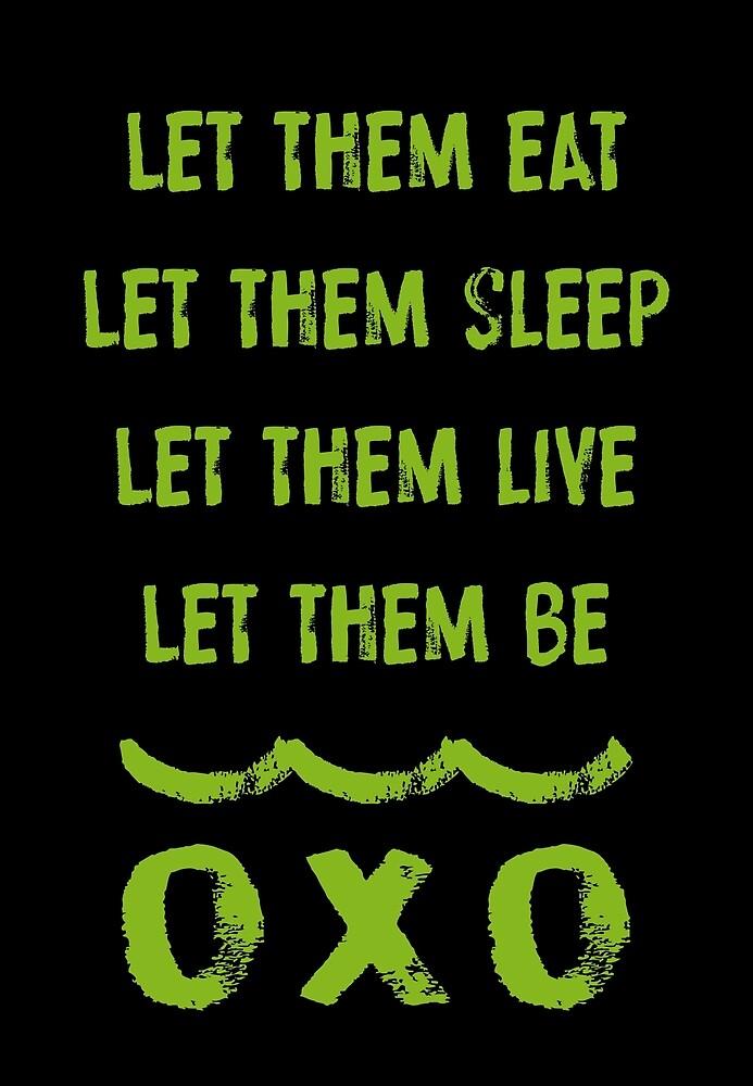 Let Them Be (green/black) by Etakeh