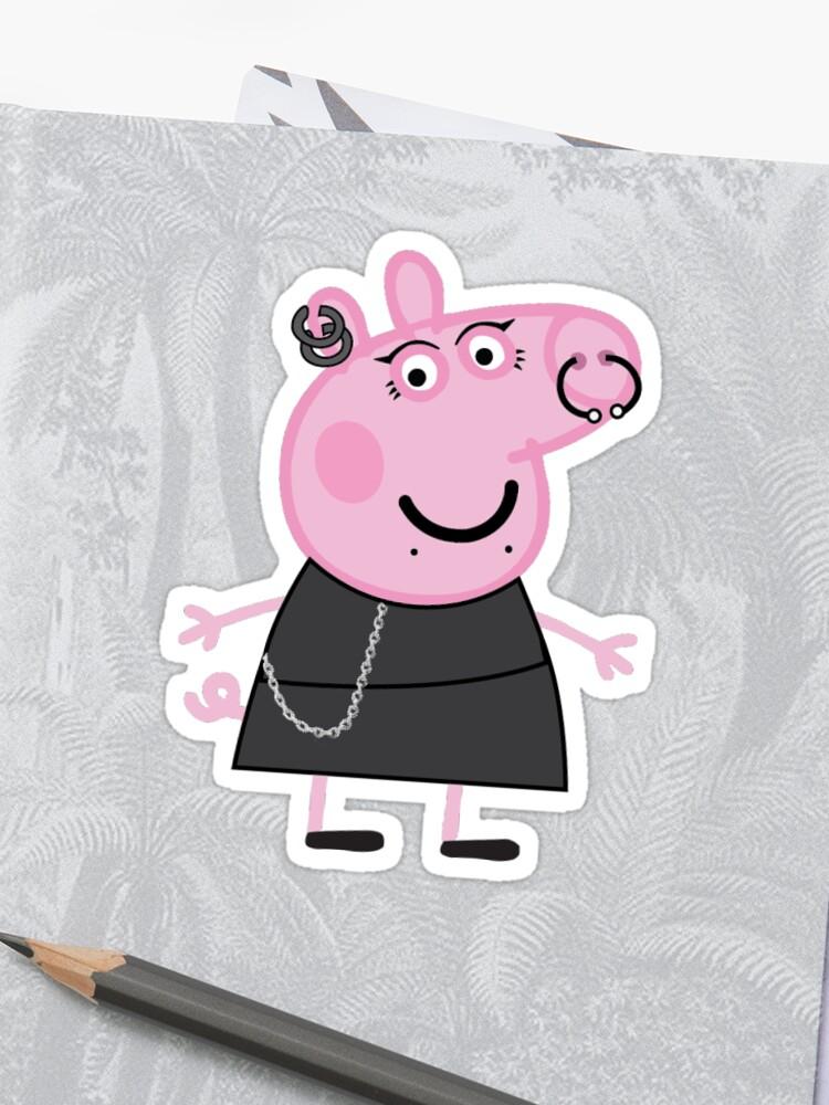 Goth Peppa Pig Emo Peppa Pig Egirl Peppa Pig Peppa Sticker Peppa Pig Stickers Sticker