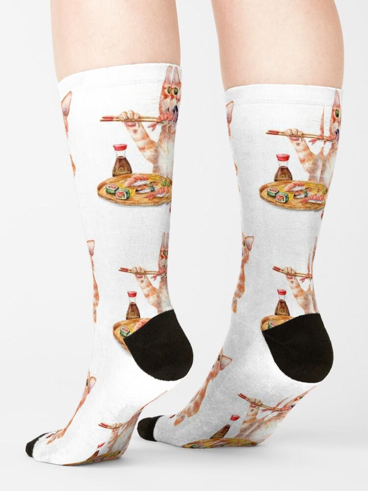 Alternate view of Sushi Cat Socks