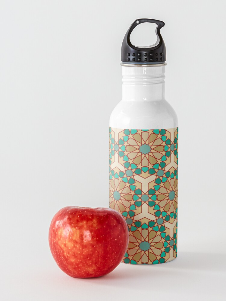 Alternate view of Geometric Pattern: Arabic Tiles: Turquoise Water Bottle