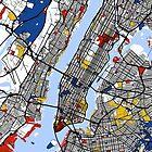 New York Mondrian map by mondrianmaps