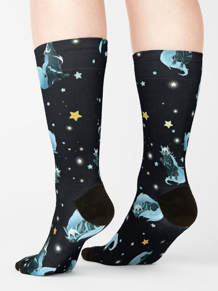 Alternative Ansicht von Kosmischer Wolf Socken