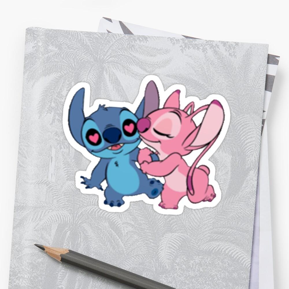 Pegatinas «Stitch y Angel» de KbeeStrickland | Redbubble