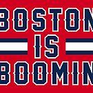 «Boston Is Boomin - Rojo» de SaturdayAC