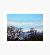 November Sky in Kalispell - South Art Print