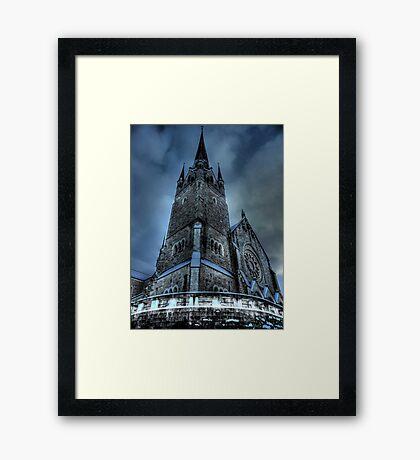 Saintly Steeples Framed Print